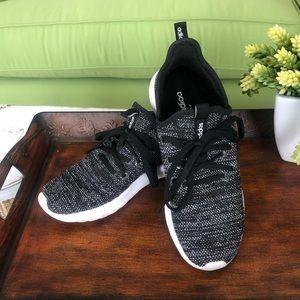 Adidas black and white cloud foam sneaker sz 8
